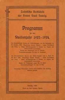Programm : für das Studienjahr 1923-1924