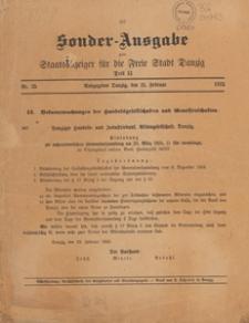 Staatsanzeiger für die Freie Stadt Danzig. Teil 2, Oeffentlicher Anzeiger, 1925.02.14 nr 22