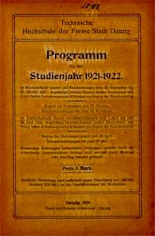 Programm : für das Studienjahr 1921-1922
