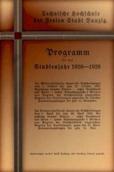 Programm : für das Studienjahr 1928-1929