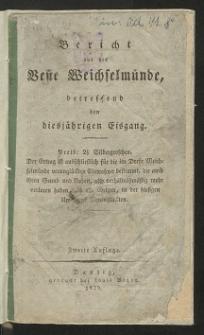 Bericht aus der Veste Weichselmünde, betreffend den diesjährigen Eisgang