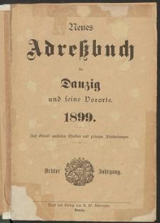 Neues Adreßbuch für Danzig und seine Vororte 1899