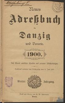 Neues Adreßbuch für Danzig und seine Vororte 1900