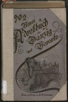 Neues Adreßbuch für Danzig und seine Vororte 1902