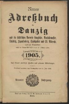 Neues Adreßbuch für Danzig und seine Vororte 1905