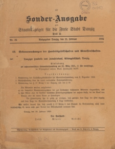 Staatsanzeiger für die Freie Stadt Danzig. Teil 2, Oeffentlicher Anzeiger, 1929.02.16 nr 11