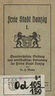Freie Stadt Danzig H. 1