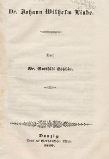 Dr. Johann Wilhelm Linde