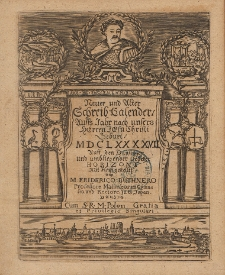Neuer und Alter Schreib-Calender Auffs Jahr nach unsers Herren Jesu Christi Geburt [...] 1697