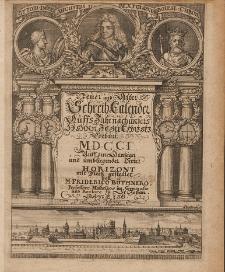 Neuer und Alter Schreib-Calender Auffs Jahr nach unsers Herren Jesu Christi Geburt [...] 1701
