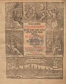 New und Alter Schreib Calender Auffs Jahr nach unsers Herrn Christi Geburt [...] 1677