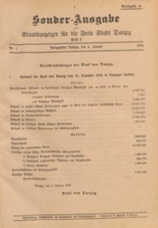 Staatsanzeiger für die Freie Stadt Danzig. Teil 1, 1925.02.25 nr 14