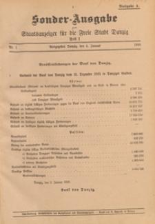 Staatsanzeiger für Danzig : Anlage: Oeffentlicher Anzeiger, 1921.01.22 nr 7