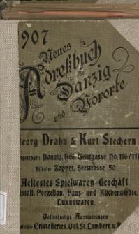 Neues Adreßbuch für Danzig und seine Vororte 1907
