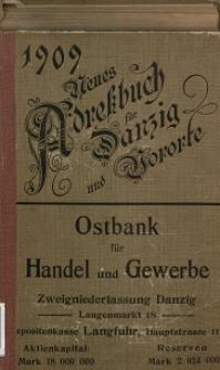 Neues Adreßbuch für Danzig und seine Vororte 1909