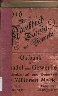 Neues Adreßbuch für Danzig und seine Vororte 1910