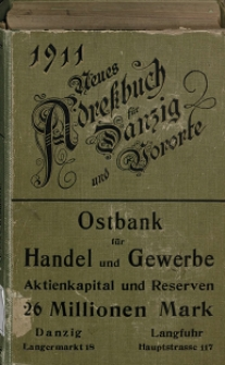 Neues Adreßbuch für Danzig und seine Vororte 1911