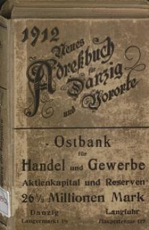 Neues Adreßbuch für Danzig und seine Vororte 1912