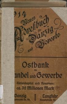 Neues Adreßbuch für Danzig und seine Vororte 1914