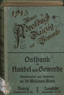 Neues Adreßbuch für Danzig und seine Vororte 1915