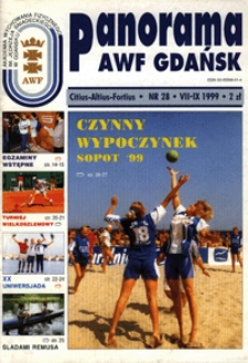 Panorama AWF Gdańsk : citius, altius, fortius, 1999, Nr 28