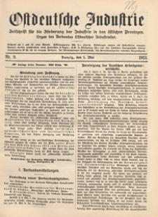 Ostdeutsche Industrie : Organ des Verbandes Ostdeutscher Industrieller, 1918.03.01 nr 5