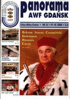 Panorama AWF Gdańsk : citius, altius, fortius, 2000, Nr 31