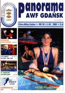 Panorama AWF Gdańsk : citius, altius, fortius, 2001, Nr 33