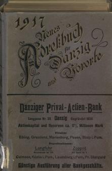 Neues Adreßbuch für Danzig und seine Vororte 1917