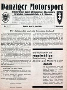 Danziger Motorsport, 1930, nr 7