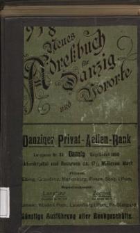 Neues Adreßbuch für Danzig und seine Vororte 1918