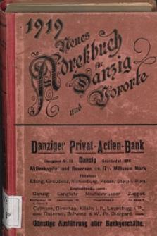 Neues Adreßbuch für Danzig und seine Vororte 1919