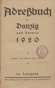 Adreßbuch für Danzig und Vororte 1920