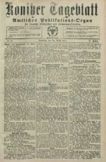 Konitzer Tageblatt.Amtliches Publikations=Organ, nr74