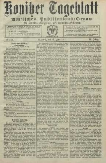 Konitzer Tageblatt.Amtliches Publikations=Organ, nr143
