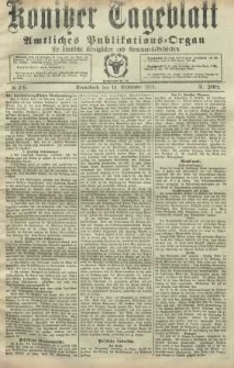 Konitzer Tageblatt.Amtliches Publikations=Organ, nr218