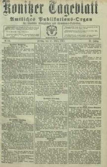 Konitzer Tageblatt.Amtliches Publikations=Organ, nr63