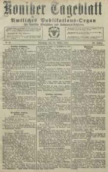 Konitzer Tageblatt.Amtliches Publikations=Organ, nr66