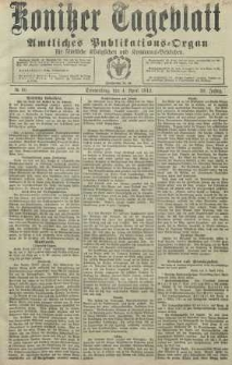 Konitzer Tageblatt.Amtliches Publikations=Organ, nr80