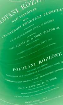 Földtani Közlöny : havi folyoirat : kiadja a Magyarhoni Földtani Társulat. Bd. 42, H. 1-12