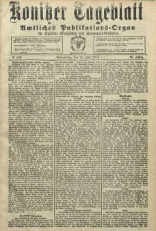 Konitzer Tageblatt.Amtliches Publikations=Organ, nr166