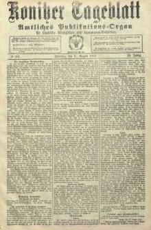 Konitzer Tageblatt.Amtliches Publikations=Organ, nr187