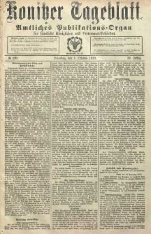 Konitzer Tageblatt.Amtliches Publikations=Organ, nr230