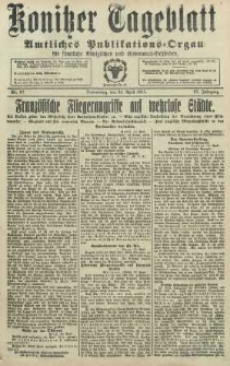 Konitzer Tageblatt.Amtliches Publikations=Organ, nr93
