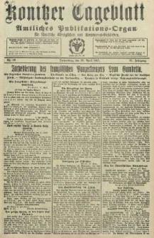 Konitzer Tageblatt.Amtliches Publikations=Organ, nr99