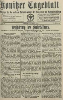 Konitzer Tageblatt.Amtliches Publikations=Organ, nr36