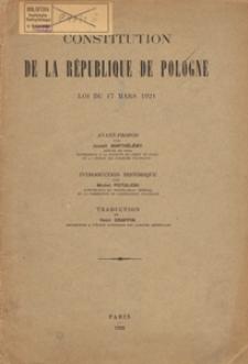 Constitution de la République de Pologne : loi du 17 mars 1921