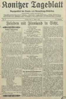 Konitzer Tageblatt.Amtliches Publikations=Organ, nr23
