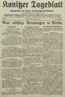 Konitzer Tageblatt.Amtliches Publikations=Organ, nr31