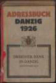 Adreßbuch für Danzig und Vororte.